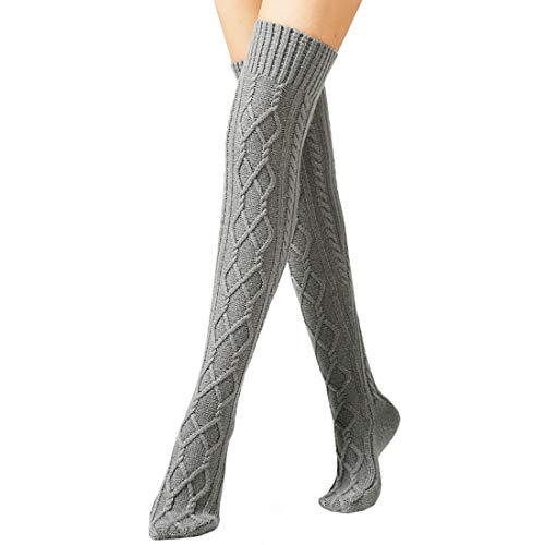 Boomly Calcetines Largos Mujer Medias Largas Invierno