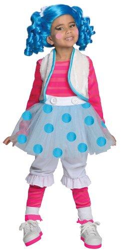 Traumhaftes Lalaloopsy Mittens Fluff 'n' Stuff Kostüm inkl. Perücke Gr. 104/116 = Größe Medium