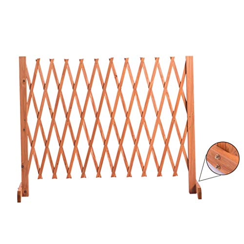 BBGS Expanding Wood Fence, Carbonized Wood Screen Fence Grid Flower Stand Wooden Fence Partition Outdoor Gardening Telescopic Guardrail (Size : 70 * 27cm)
