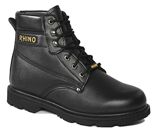 Rhino 60S21 6 Inch Steel Toe Safety Work Boot - Black (10.5)