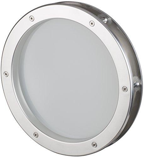MLS Bullauge 35 cm Edelstahl-Optik, VSG Klarglas, sehr hochwertig, Rundfenster