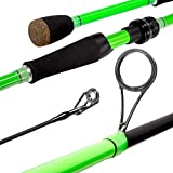 Akataka M'Wave Bass Fishing Rod - 2pcs Collaspible Casting Rod Spinning Rod with 24Ton Carbon...