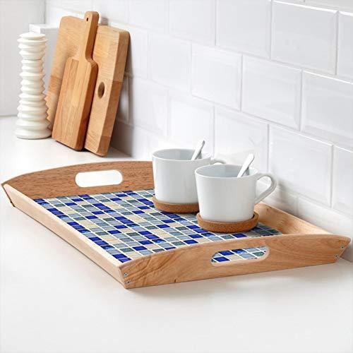Vipxyc Baño Cocina DIY Hogar (10 cm * 10 cm) Azulejos Adhesivos, Pegatinas Baño, Azulejos de Mosaico Cuadrados para Cocina Bthroom DIY Adhesivos para Azulejos de Pared Impermeable(013)