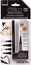 BELLA BROW By Dream Look, Microblading Eyebrow Pen with Precision Applicator (Single Pack - Ash Black) – As Seen On TV, Natural Looking, Smudge Proof, Waterproof, Long Lasting