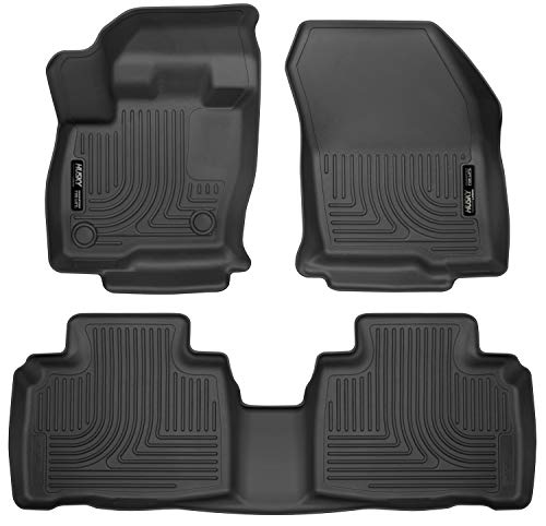 Husky Liners - 98781 Fits 2015-20 Ford Edge Weatherbeater Front & 2nd Seat Floor...