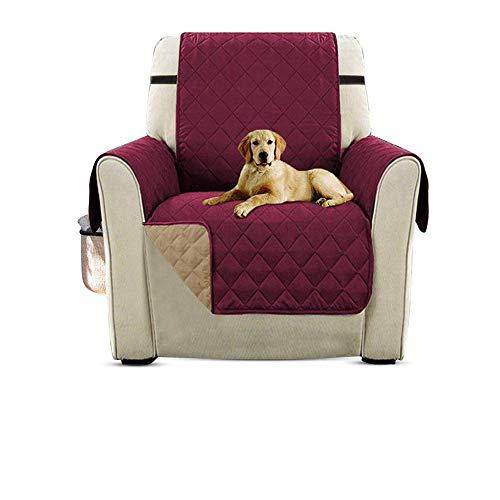 PETEMOO Sofabezüge Sofabezüge Reversible Gesteppte Möbelschutzfolie, wasserabweisend, verbesserter Couch Shield mit elastischen Riemen, Anti-Rutsch-Schaum, Micro-Stoff-Pet-Cover-Sofa