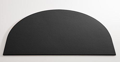 C. Matthey Schreibunterlage aus feinem italienischen Rindleder 50 x 70 cm, 0,5 cm dick, halbrund, schwarz - Handmade in Germany