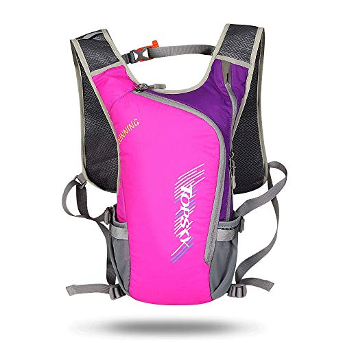 JTRHD Hydration Pack Backpacks Ultralight Waterproof Cycling Backpack Riding Running Hiking Riding Camping Breathable Rucksack Breathable Lightweight (Color : Purple, Size : 22 * 7 * 40cm)