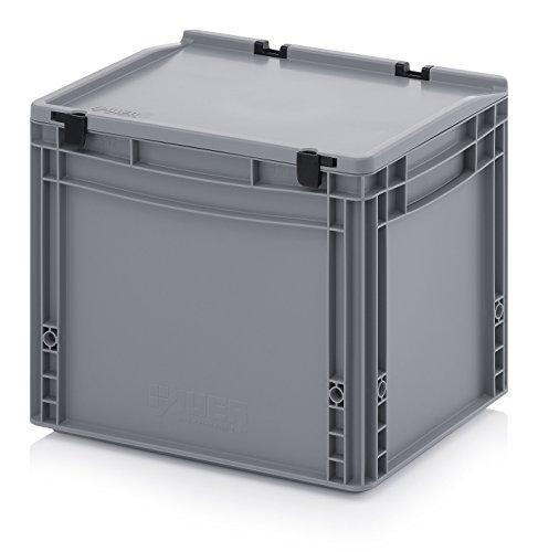 Eurobehälter-Eurobox 40 x 30 x 33,5 cm mit Scharnierdeckel inkl. gratis Zollstock