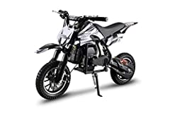 Pocket bike is ideal for providing driveway and parking lot commuting entertainment for children and teenagers 13 years and older High torque motor engine allowing the young riders to travel at speeds up from 15-20 mph depending on the terrain Design...