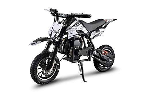 XtremepowerUS 49CC 2-Stroke Gas Power Mini Pocket Dirt Bike Off-Road Motorcycle Mini Kids Ride-on Dirt Bike (Black)