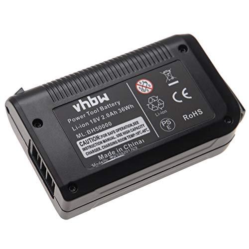 vhbw Batería recargable compatible con Hoover BH50010, BH50015 aspiradora, robot de limpieza (2000 mAh, 18 V, Li-Ion)