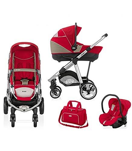 Trio Ovo Car - Sistema Combinato carrozzina - passeggino - seggiolino auto rosso 089