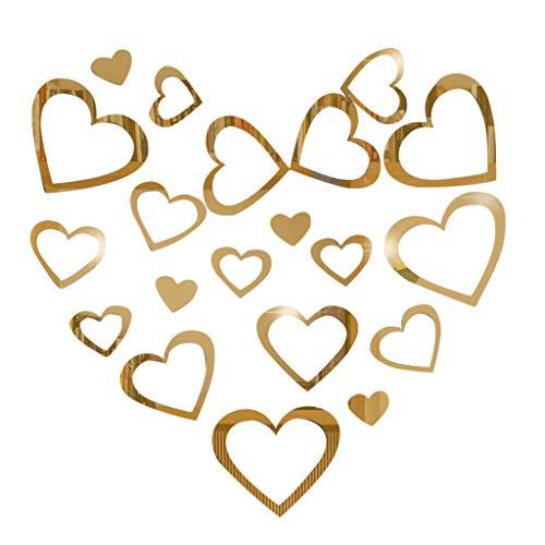 Yogogo-> Maison & Jardin -> Décoration intérieure 2019,Miroir 3D Amour Amour Amovible Sticker Mural Déco Maison Art Déco