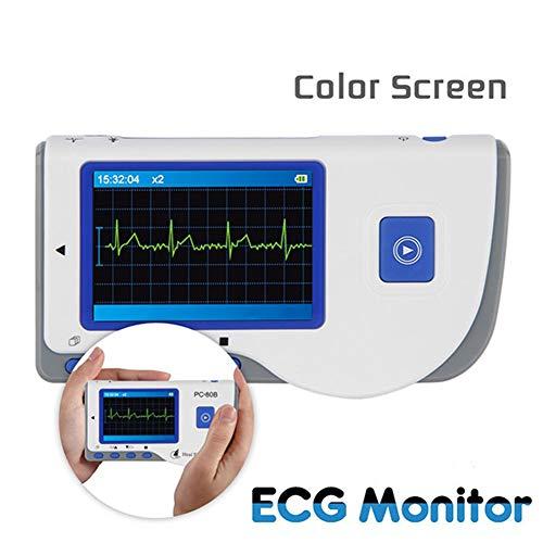 XKRSBS ECG portátil, Monitor de ECG de Mano avanzado Mini