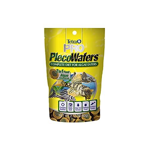Tetra PRO PlecoWafers 2.12 Ounces, Nutritionally Balanced Vegetarian Fish Food, Concentrated Algae...