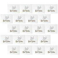Frcolor グリーティングカード 誕生日カード ポップアップカード メッセージカード お祝い 結婚祝い 装飾カード 100枚セット(白)
