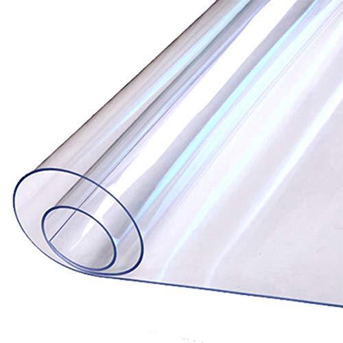 Alfombra Pasillo 1 mm de Espesor de Plástico Transparente Protector de Alfombras, Alfombra Transparente Resistente para Piso para el Hogar y la Oficina, 60cm / 80cm / 100cm / 120cm / 140cm de Ancho