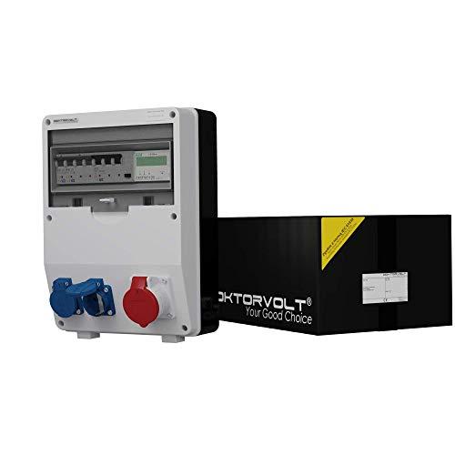 Stromverteiler mit Stromzähler MID geeicht TD-S/FI 1x16A 2x230V Wandverteiler Baustromverteiler 2510