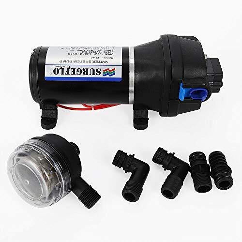 Gartenpume Pumpen, 12V 17L/min Wasserpumpe Druckpumpe Pumpe Membranpumpe für Yacht Wohnwagen Garden