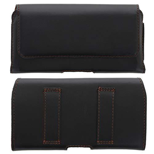 XiRRiX Handytasche Gürtel Leder 2.2 4XL Tasche quer kompatibel mit Gigaset GS3 / GS4 / Huawei P40 Lite / P30 Pro / Oneplus Nord / Xiaomi Mi Note 10 Lite- Smartphone Gürteltasche schwarz