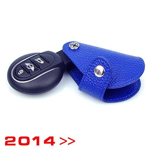 RACEFOXX Schlüsseltasche, Autoschlüssel, Schlüssel, Tasche, blau, Mini ONE / COOPER / COOPER S / JCW Modelle: F54 Clubman ab 2015, F55 Hatch ab 2015 5 Türer, F56 Hatch ab 2014 3 Türer, F57 Cabrio ab 2016, F60 Countryman ab 2017