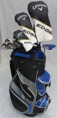 Mens Callaway Complete Golf Clubs - Set with Cart Bag Driver, 3 Wood, Hybrid, Irons, Putter, Right Handed Regular Flex