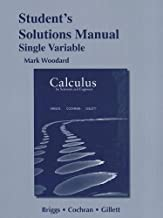 Student's Solutions Manual for Calculus for Scientists and Engineers, Single Variable