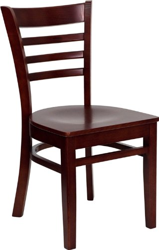 Hot Sale Flash Furniture 4-Pack Hercules Series Ladder Back Wooden Restaurant Chair, Mahogany Finished