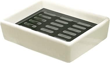 CAheadY Tragbare Reise-Badezimmer-Teller-Abtropffl/äche-Duschseifen-Kasten-Beh/älter-Halter White