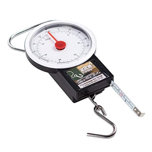 Zite Fishing Feder-Waage bis 32kg zum Angeln - Fischwaage zum Fische Wiegen & mit Fisch-Maßband bis 1m zum Messen