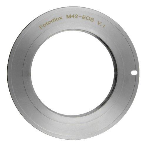 Fotodiox Chrome Anillo Adaptador para M42 (42mm filetattura x1) Lente para Canon