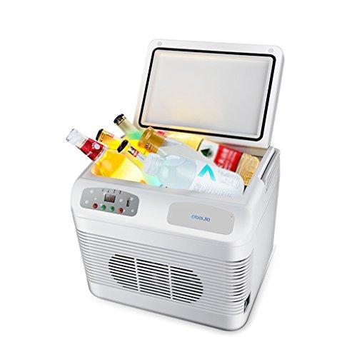 Réfrigérateur De Voiture Portable Mini 12L Réfrigérateur Congélateur Refroidisseur Réchauffeur TG Voiture Maison Voyage Camping Pique-Nique 37 * 30 * 30 Cm