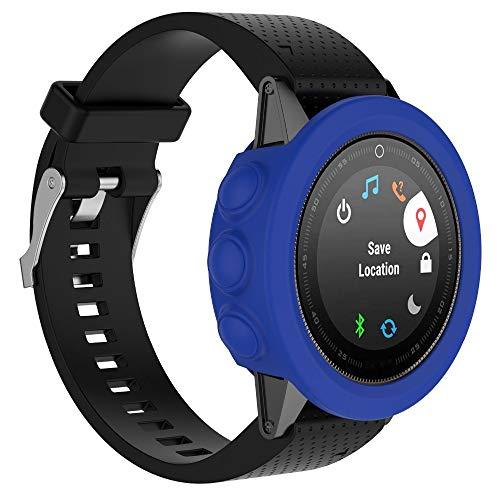 QW Funda Protectora del Reloj del Color sólido de Silicona for Garmin 5 / 5S / 5X (Negro) Agradable