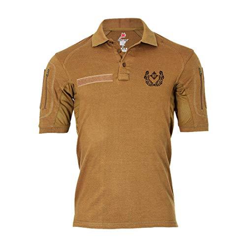 Copytec Tactical Poloshirt Alfa - Major Dienstgrad Schulterklappe Aufschiebeschlaufe Unter-Offizier Mannschafter #19114, Farbe:Khaki, Größe:Herren XL