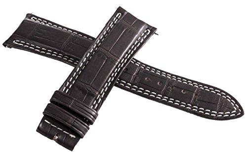 Jaeger Lecoultre mens OEM marrone scuro in pelle Alligatore 21mm x 18mm
