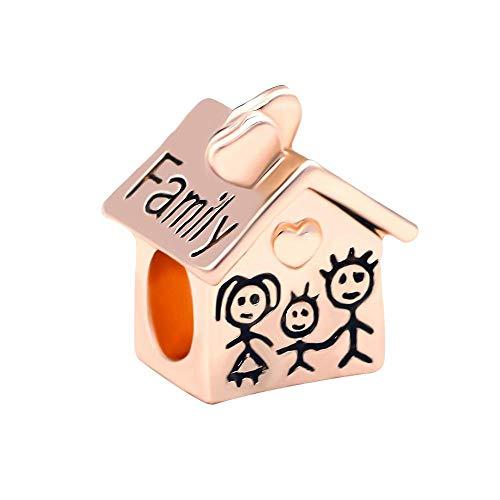 Colgante De Plata De Ley 925 Original Mo R Son Daughter Charm Gold Heart Love Family Beads Charm Pandora Charm Bracelet Regalo De Cumpleaños