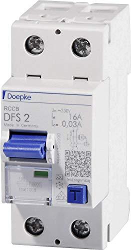 Doepke 09124601 Fehlerstrom-Schutzschalter 2polig 25A 0.03A 230V