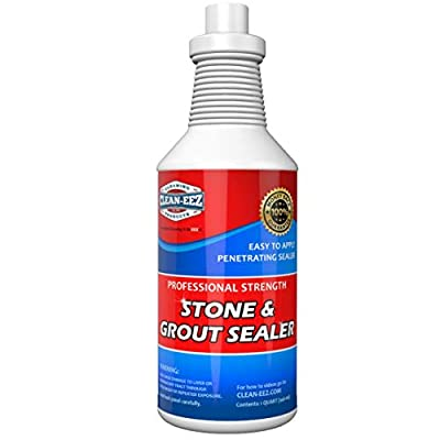 Grout & Granite Penetrating Sealer From Clean-eez (The Floor Guys): Also Works on Marble, Travertine, Limestone, Slate. Protects Against Water & Oil Based Stains. Designed for Floors & Showers.
