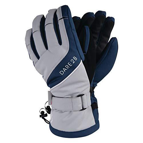 Dare2B Damen Skihandschuhe Merit Wasserdicht und Atmungsaktiv Thinsulate Gefüttert und Isoliert Ski- und Snowboard-Handschuh mit strukturierter PU Handfläche und Fingerspitzen Blue Wing/Argent Grey, M