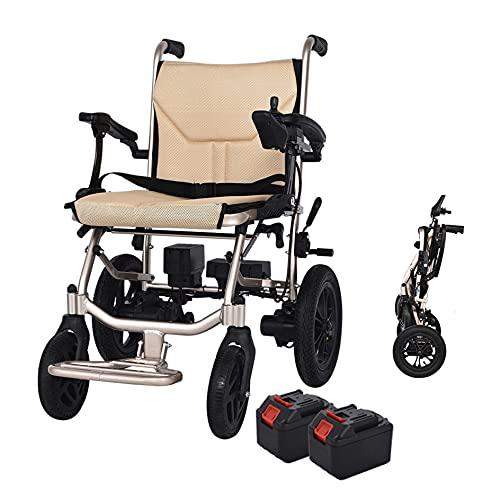 Sillas de ruedas eléctricas Scooter de movilidad ligero y plegable Control dual Se puede abrir en 1 segundo Batería de litio móvil de 2 piezas Adecuado para sillas de ruedas eléctricas Ancianos