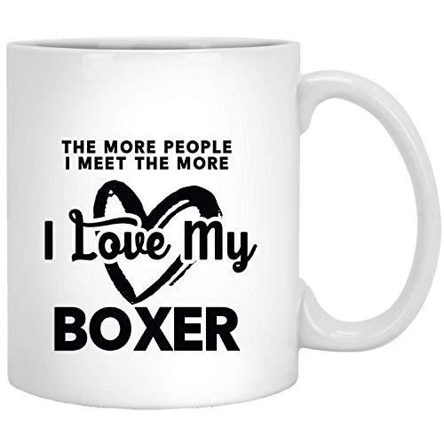 Hoe meer mensen kent, hoe meer ik mijn boxershorts geschenken grappige mok wit