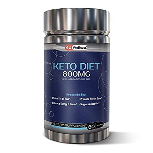 Keto Diet Pills - Natural Weight Loss Keto Supplement for Women & Men with BHB Ketone Salts (800MG)