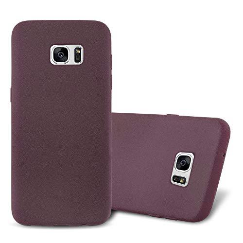 Cadorabo Funda para Samsung Galaxy S7 Edge en Frost Lila Burdeos - Cubierta Proteccíon de Silicona TPU Delgada e Flexible con Antichoque - Gel Case Cover Carcasa Ligera