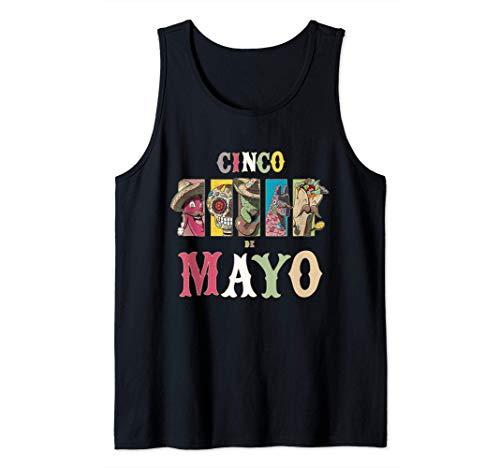 Divertido traje del Cinco de Mayo para hombres, mujeres y Camiseta sin Mangas