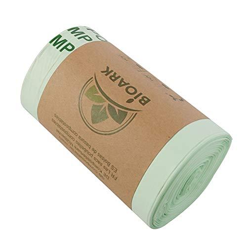 Lurrose Lot de 50 sacs jetables en amidon de maïs pour tri des déjections canines - Biodégradation - Vert - 6 l - Épaisseur : 0,014 mm - 36 x 35 cm