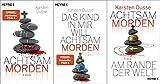 Karsten Dusse: Achtsam Morden-Reihe Band 1-3 + 1 exklusives Postkartenset