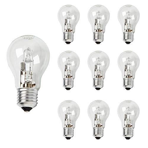 10er Packung - KRYSTAL 70W (70W=92W) Klare Halogen Birnen Energiesparend E27