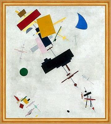 Kunstdruck Suprematism Kasimir 02754 Sewerinowitsch Malewitsch formas círculos B A2 enmarcados