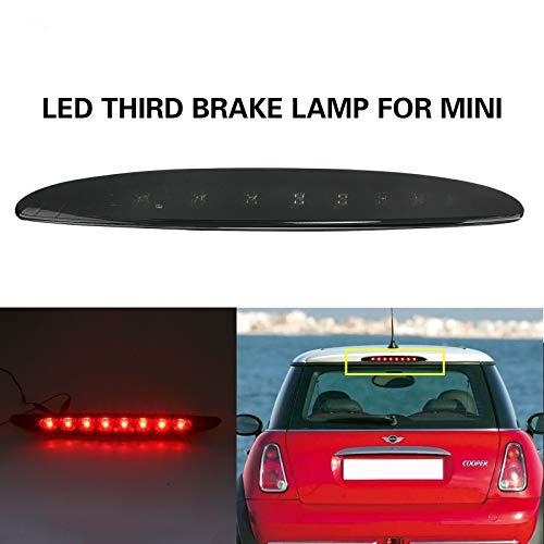 NSLUMO 1 Stück Geräucherte Linse Rot LED Für 2002-2006 M`ini Cooper R50 R53 Rückseite Drittes Bremslicht Hochmontierte Lampe